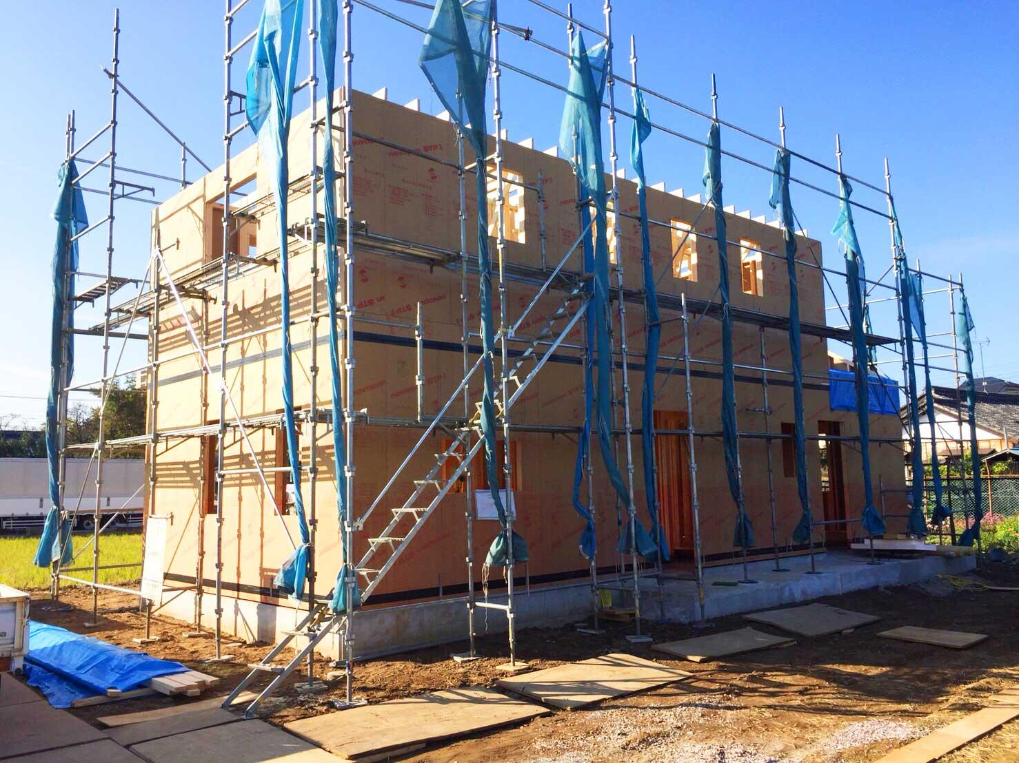 続・建方工事と防蟻施工