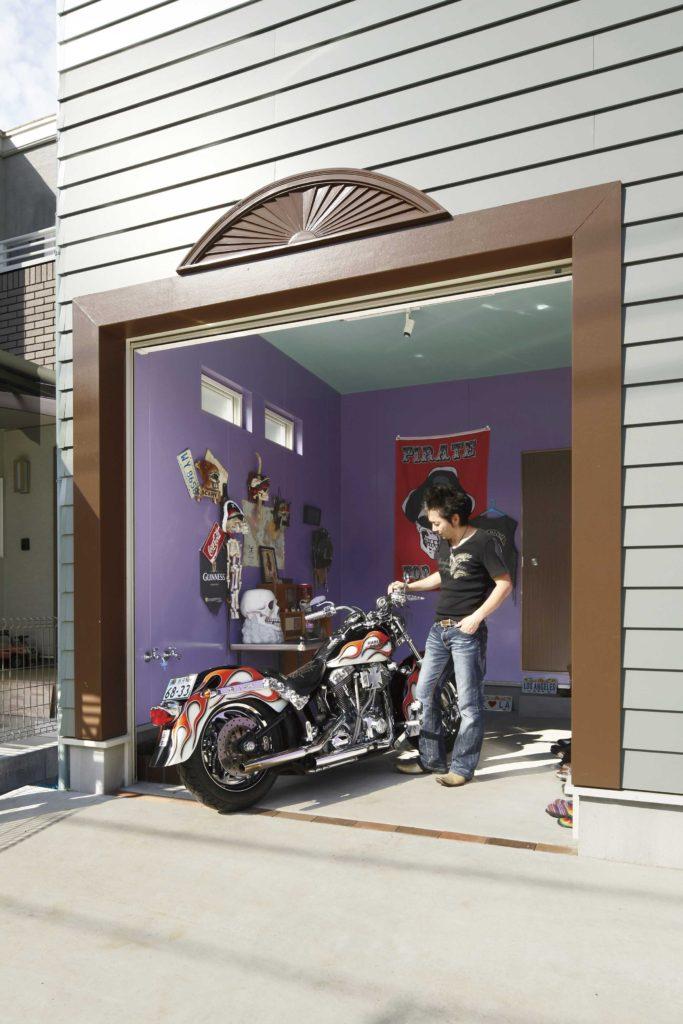 バイクガレージ アメリカンスタイル 車庫