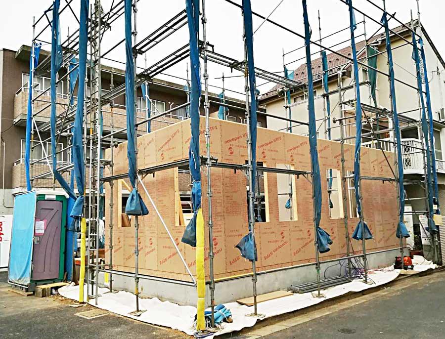 建方工事が始まりました