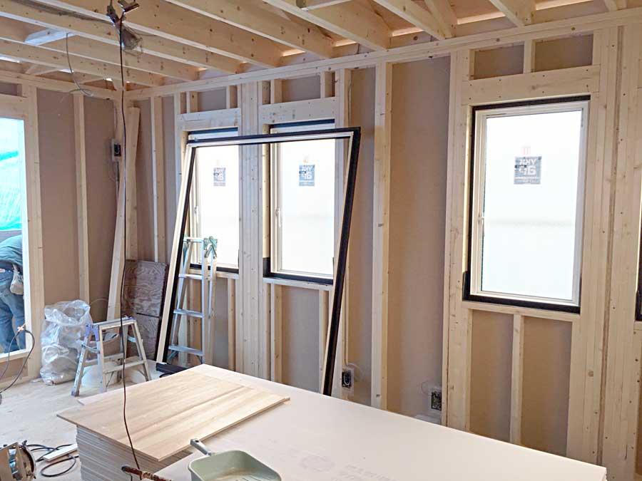 防蟻加工と窓サッシ